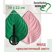 """Молд """"универсальный лист"""" 30х22 см для ростовых цветов"""