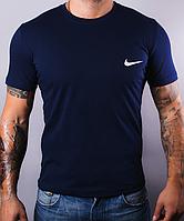 Размеры: 44,46,48,50,52,54,56,58. Темно-синяя мужская футболка Nike (Найк) / 100% хлопок