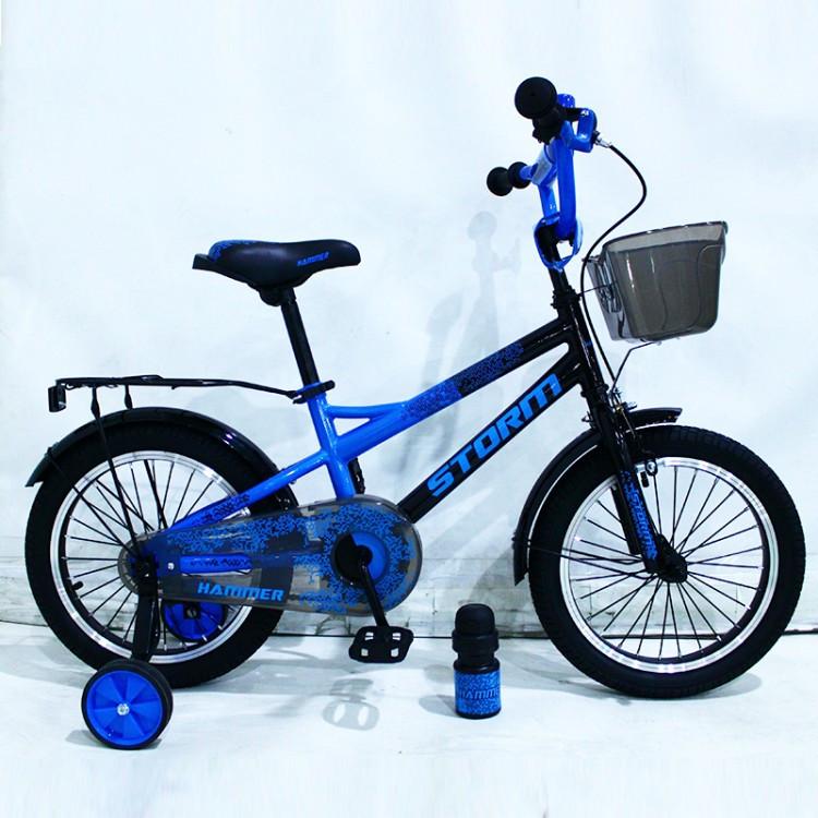 Детский двухколесный велосипед STORM на 16 дюймов синий