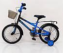 Детский двухколесный велосипед STORM на 16 дюймов синий, фото 6
