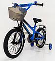Детский двухколесный велосипед STORM на 16 дюймов синий, фото 7