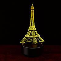 3D Светильник Эйфелева башня . 1 светильник - 16 разных цветов света, Подарки на 8 марта