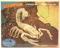 """""""Скорпион"""" - сборная деревянная 3д модель (4 пластины)"""