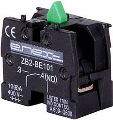 Блок-контакт e.cb.stand.n.o зеленый нормально-открытый