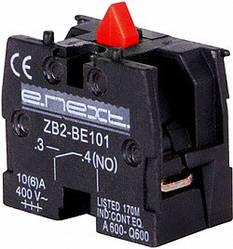Блок-контакт e.cb.stand.n.з красный нормально-закрытый