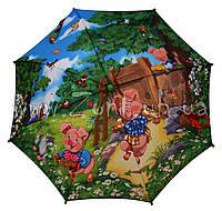 Детский зонт Zest Три поросенка ( автомат ) арт. 21665-2