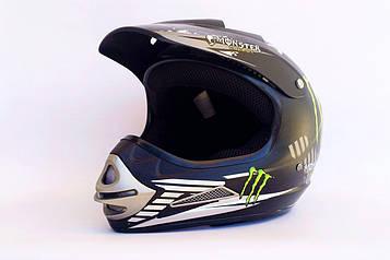 Шлем кроссовый BLD №-819 Monster черный