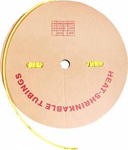 Трубка термоусаживаемая 4/2 мм, 200 м, желтая, E.Next, фото 2