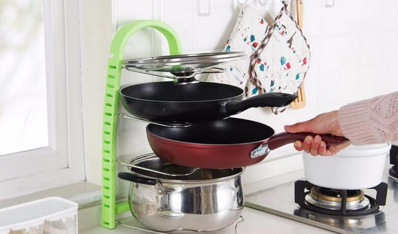 Подставка для сковородок, крышек, тарелок, кастрюль (Зеленый)