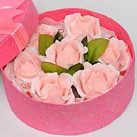 Букет из конфет в коробке. Подарочный набор. Подарок на 8 марта. На день влюблённых.