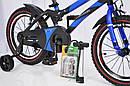 Детский двухколесный велосипед  (от 5 лет) на 16 дюймов HAMMER синий, фото 3
