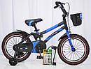 Детский двухколесный велосипед  (от 5 лет) на 16 дюймов HAMMER синий, фото 2