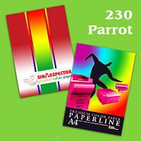 Бумага цветная А4 80 г/м2 SPECTRA интенсивный цвет  Parrot230 100 листов зеленая