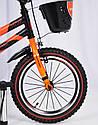 Детский двухколесный велосипед  (от 5 лет) на 16 дюймов HAMMER оранжевый, фото 3