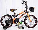 Детский двухколесный велосипед  (от 5 лет) на 16 дюймов HAMMER оранжевый, фото 4