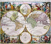Старинная карта 100см х 120см