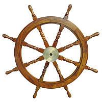 Декоративный штурвал Sea Club 550253 90х90 см Светло-коричневый (550253)