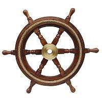 Декоративный штурвал Sea Club 550256 45х45 см Коричневый (550256)