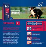 Корм для собак Brit Premium Senior L 15 кг, брит для стареющих собак крупных пород