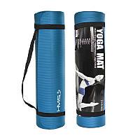 Коврик, мат для йоги и фитнеса Hms YM03 Nbr 1 cм Blue - 227538