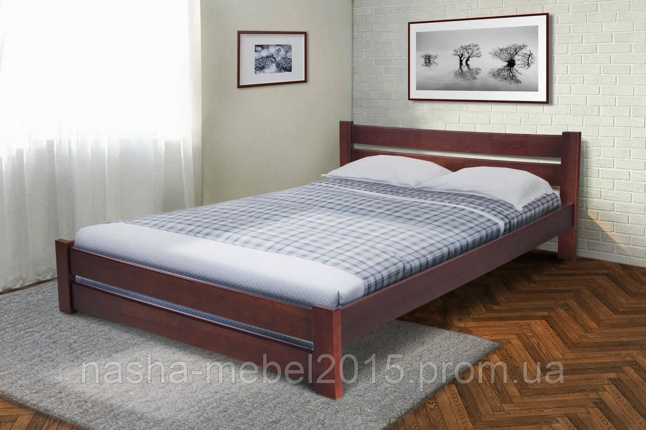 Кровать двуспальная деревянная Глория 1,6 темный орех