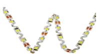 Біла світлодіодна стрічка 6500К 7.2Вт 12вольт S-форми 3D-2835-60-12 S-TYPE гнучка