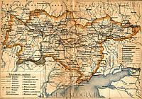 Карта Екатеринославской губернии 60 см x 40 см