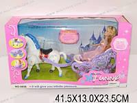 Кукла с лошадью и каретой, в кор. 41х23х13
