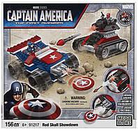 Конструктор 156 деталей. Капитан Америка против Красного Черепа, Mega Bloks - 138353