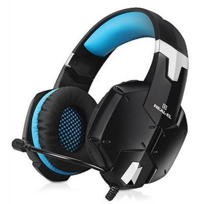 Наушники REAL-EL GDX-7500 black-blue