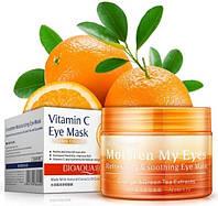 Успокаивающие освежающие патчи для глаз BIOAQUA с экстрактом апельсина и гинкго билоба 36 шт