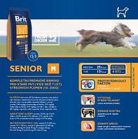 Корм для собак Brit Premium Senior M 3 кг, брит для стареющих собак средних пород