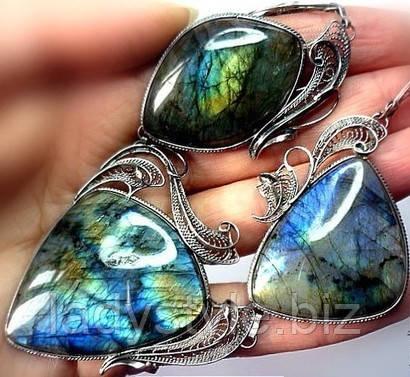 серебряные украшения с лабрадором фото купить