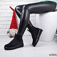Ботинки женские Strong черные замша 6301 ДЕМИ, фото 1