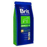 Корм для собак Brit Premium Senior XL 15 кг, брит для стареющих собак гигантских пород