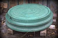 Люк садовый зеленый полимерпесчаный ( полимерный, пластиковый ) легкий канализационный