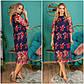 """Нарядное женское платье до больших размеров 19048 """"Сетка Вышивка Цветы Миди"""" в расцветках, фото 2"""