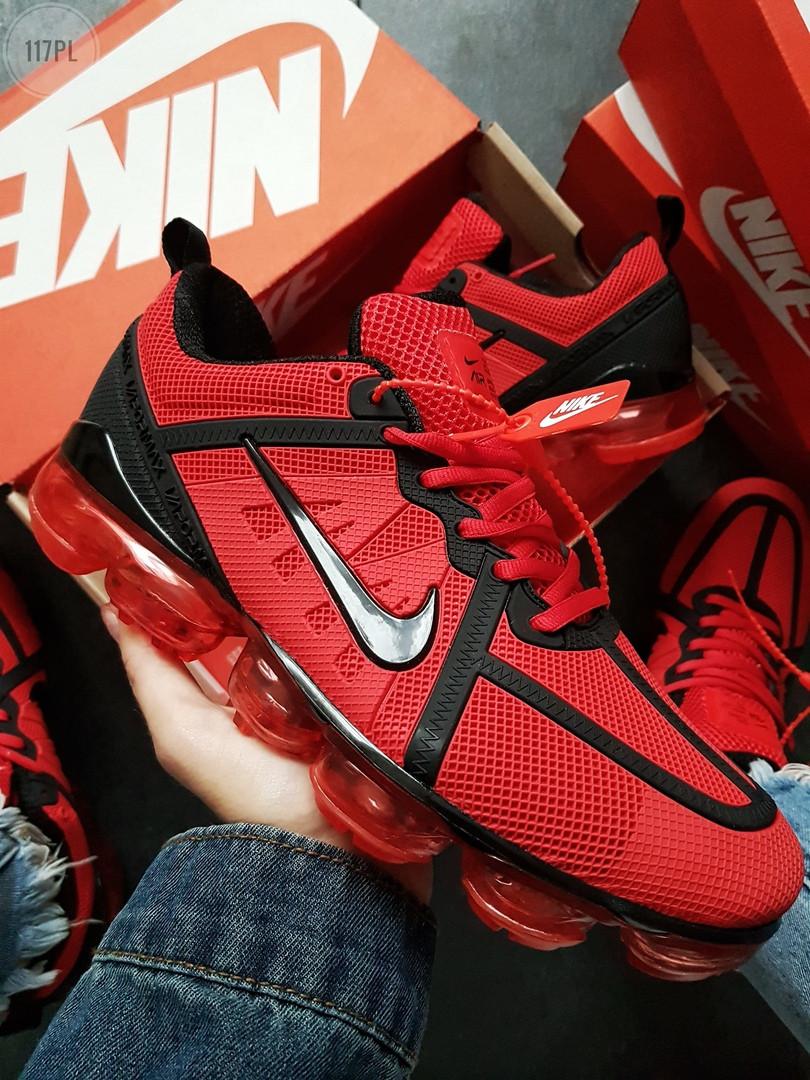 Мужские кроссовки Nike VaporMax 19  Red/Black (р. 42 и 43) красные