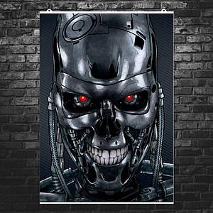"""Постер """"Terminator"""". Терминатор, киборг. Репродукция рисунка. Размер 60x42см (A2). Глянцевая бумага"""