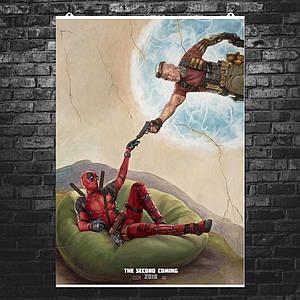 """Постер """"Дэдпул и Кэйбл"""". Deadpool, Cable, вариант 1. Размер 60x42см (A2). Глянцевая бумага"""