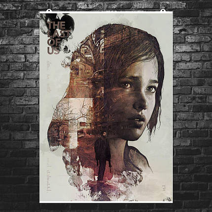 """Постер """"Last Of Us, Элли, коллаж"""". Последние из нас, Одни из нас. Размер 60x43см (A2). Глянцевая бумага, фото 2"""