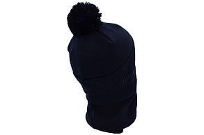 Комплект Flexfit шапка з помпоном и снуд   Jeans Темно-синий (F-0918-109), фото 3