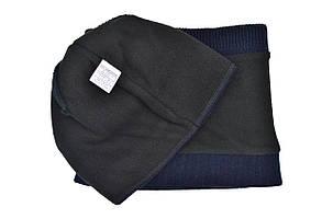Комплект Flexfit шапка з помпоном и снуд   Jeans Темно-синий (F-0918-109), фото 2