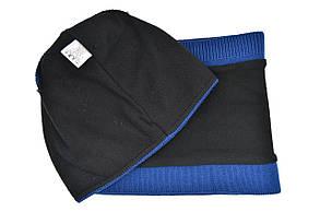 Комплект Flexfit шапка з помпоном и снуд Fila Синый (F-0918-112), фото 3