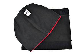 Комплект Flexfit шапка з помпоном и снуд Vokswagen Чёрный (F-0918-116), фото 3