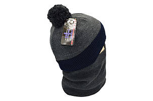 Комплект Flexfit шапка з помпоном и снуд Vokswagen Темно-серый (F-0918-117), фото 2