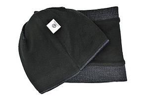 Комплект Flexfit шапка з помпоном и снуд Vokswagen Темно-серый (F-0918-117), фото 3