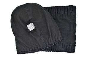 Комплект Flexfit шапка з помпоном и снуд Patagonia Чёрный (F-0918-122), фото 3