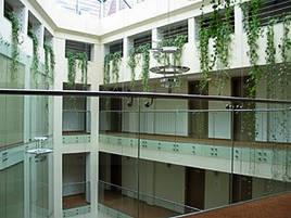 Скляні огорожі в торговий комплекс