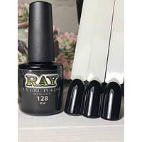 Гель-лак для ногтей RAY № 128 (насыщенный черный), 10ml
